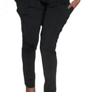 Pantalon casual, negru, cu buzunare voluminoase