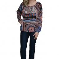 Pantalon drept din material elastic, bleumarin, de toamna-iarna