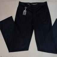 Pantalon la dunga de culoare bleumarin, din material de calitate