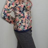Pantalon lung, office, de culoare gri, disponibil in masuri mari