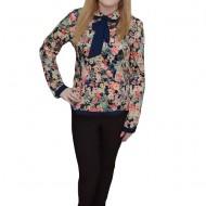 Pantalon trendy, lung, de culoare maro, cu o croiala moderna