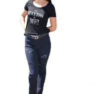 Pantaloni dama Mali cu design rafinat,nuanta de bleumarin