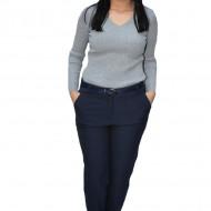 Pantaloni office Roxa ,croi drept,bleumarin