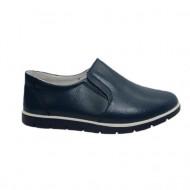 Pantof confortabil, bleumarin, cu insertie de elastic in laterale