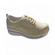 Pantof confortabil din piele naturala,culoare crem