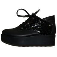 Pantofi cool, de culoare negru cu platforma