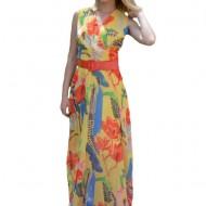 Rochie Amelia de vara ,cu imprimeu floral multicolor