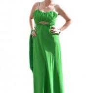 Rochie de seara deosebita, model simplu si rafinat, verde deschis