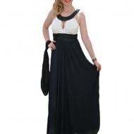Rochie eleganta ,neagra din voal fin si top din saten