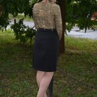 Rochie feminina ,de culoare auriu-negru