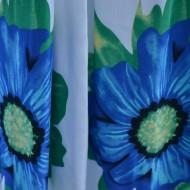 Rochie lejera de vara, flori verzi pe fond alb, model lung