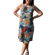 Rochie lejera Grace cu imprimeu atumn-flower multicolor