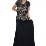 Rochie rafinata, de culoare neagra ,masura mare, design avantajos