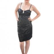 Rochie spectaculoasa, cu bretele subtiri, de culoare neagra