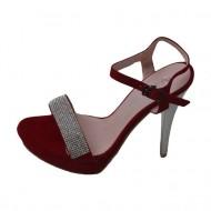 Sandale cu toc inalt, rafinate,  rosii