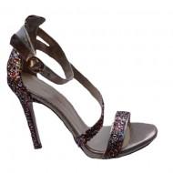 Sandale fashion Andalouse,toc cui,cu sclipici,nuanta de multicolor