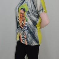 Tricou cu un imprimeu exotic minunat