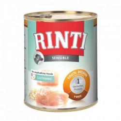 Hrana umeda pentru caini Rinti Sensible cu miel si orez 400 g