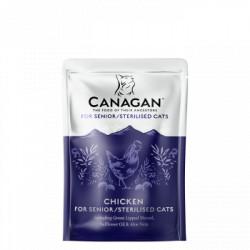 Hrana umeda pentru pisici Canagan Senior Sterilised cu pui 85 g
