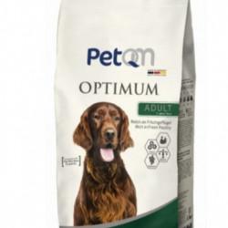 Hrana uscata pentru caini PetQM Optimum Adult cu carne de pasare, 15kg