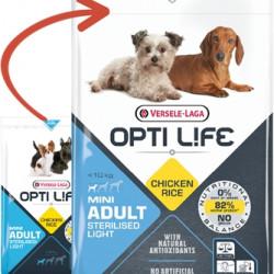 Hrana uscata pentru caini sterilizate rase nici Opti Life Light Mini