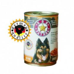 Hrana umeda pentru caini Dog Patrol Adult cu Pui 415 gr