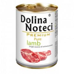 Hrana umeda pentru caini Dolina Noteci Premium Pure cu miel 400 g