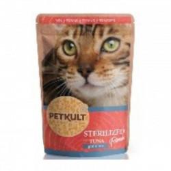 Hrana umeda pentru pisici Petkult Sterilised cu ton 100 g