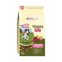 Hrana uscata caini sub 10 kg, cu miel, Happy Life Adult Mini Lamb