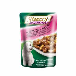 Hrana umeda pentru caini Stuzzy Adult cu vitel si paste 100 g