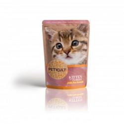 Hrana umeda pentru pisici junioare Petkult cu curcan 100 g