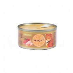 Hrana umeda pentru pisici Petkult Cat Ton cu Pui 80 gr