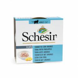 Hrana umeda pentru pisici Schesir cu ton si ananas 75 g