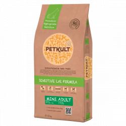 Hrana uscata pentru caini Petkult Sensitive Mini Adult cu miel si orez 12 kg