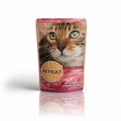 Hrana umeda pentru pisici Petkult cu vânat 100 g