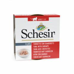 Hrana umeda pentru pisici Schesir ton si creveti 85gr