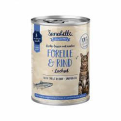 Hrana umeda Sanabelle cu Pastrav si Vita 400 gr