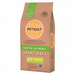 Hrana uscata pentru caini Petkult Sensitive Mini Junior cu miel si orez 12 kg