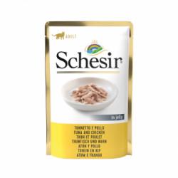 Hrana umeda pentru pisici Schesir cu ton cu pui 85 g