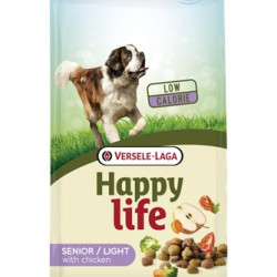 Hrana uscata pentru caini Happy Life Senior/Light pui si legume