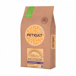 Hrana uscata pentru caini Petkult Probiotics Senior cu rata si orez 8 kg