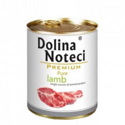 Hrana umeda pentru caini Dolina Noteci Pure cu miel 800 g
