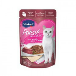 Hrana umeda pentru pisici Vitakraft Poesie Plic Piept Inima in sos 85 g