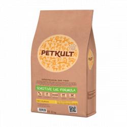Hrana uscata pentru caini Petkult Sensitive Low Calories cu miel si orez 2 kg