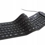 Tastatura USB Flexibila din Silicon, silentioasa si resistenta la apa!