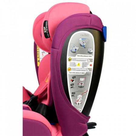Scaun Auto Riola plus cu Isofix Crocodile Pink 0 36 kg pozitie somn 135 grade