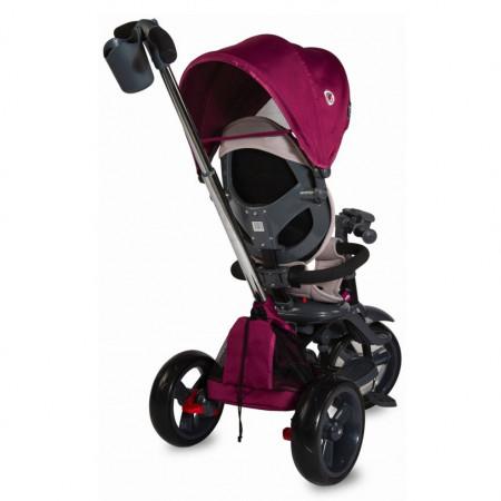 Tricicleta multifunctionala 4in1 cu sezut reversibil Coccolle Velo Violet