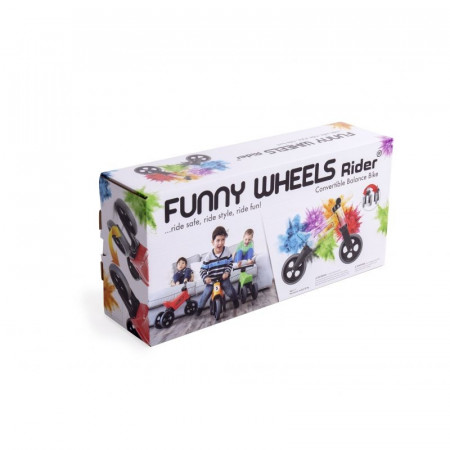 Bicicleta fara pedale Funny Wheels RIDER SPORT 2 in 1 Red
