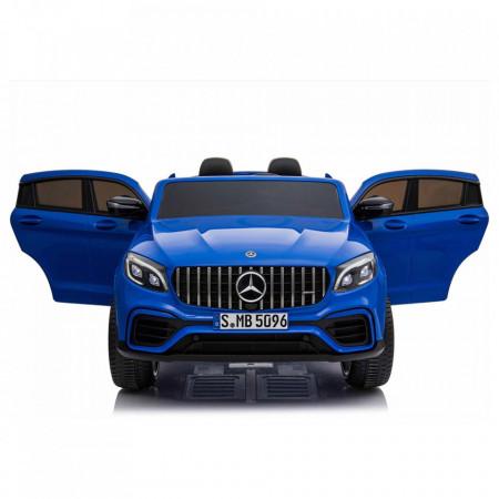 Masinuta electrica cu telecomanda pentru copii, Mercedes Benz GLC63S,4X4, roti EVA,12V10Ah BLUE