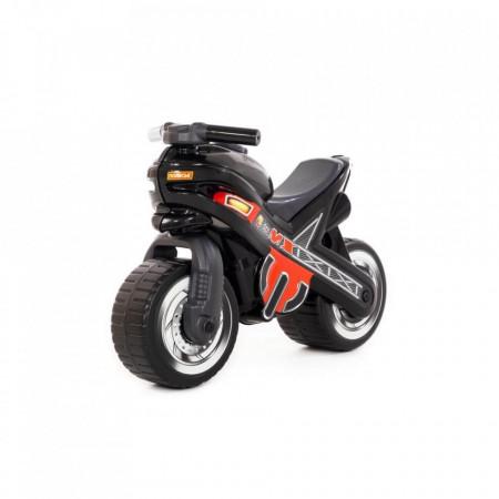 Motocicleta fara pedale, MX-ON, neagra, 70x30x49,3 cm, Polesie